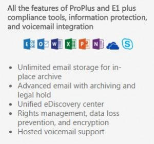 Office 365 E3 features